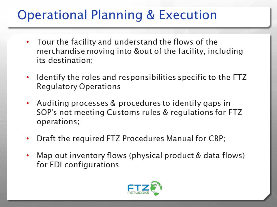 Operational Planning & Execution