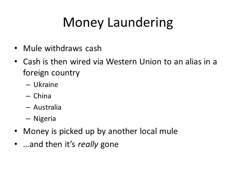 Money Laundering Mule withdraws cash