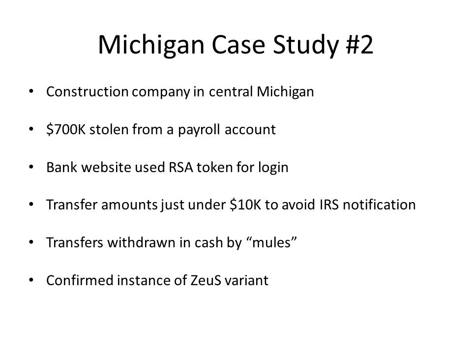 Michigan Case Study #2 Construction company in central Michigan