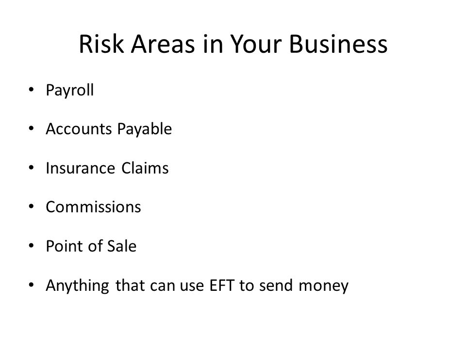 Risk Areas in Your Business