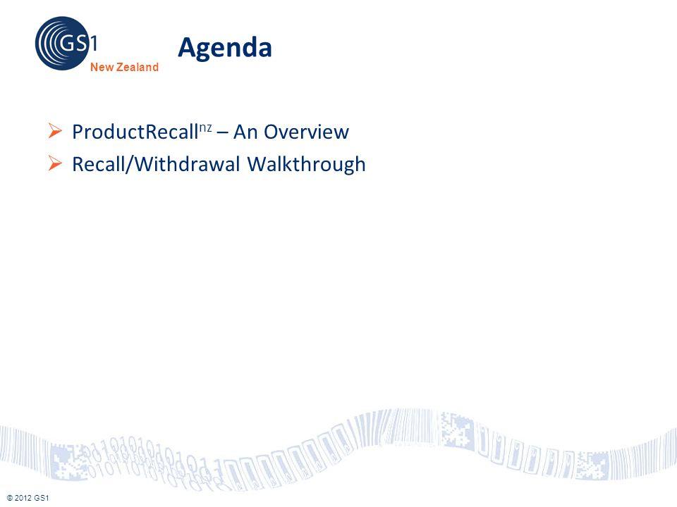 Agenda ProductRecallnz – An Overview Recall/Withdrawal Walkthrough
