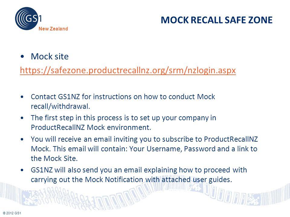 MOCK RECALL SAFE ZONE Mock site