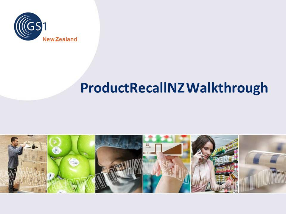 ProductRecallNZ Walkthrough