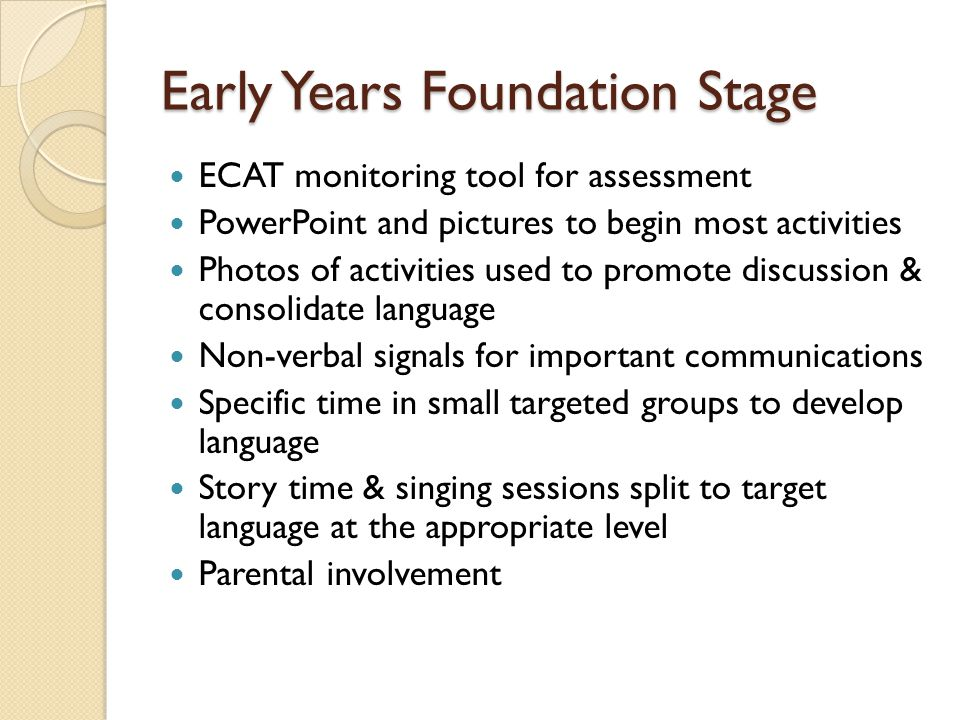 monitoring and assessment in early years