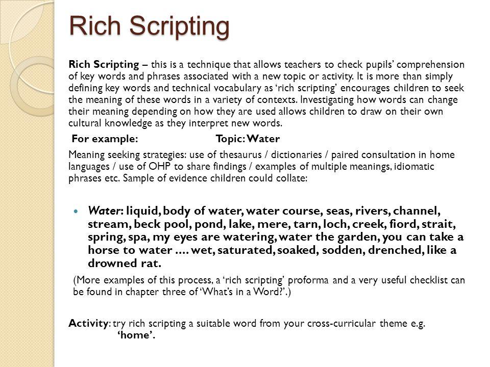 Rich Scripting