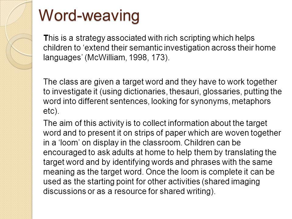 Word-weaving