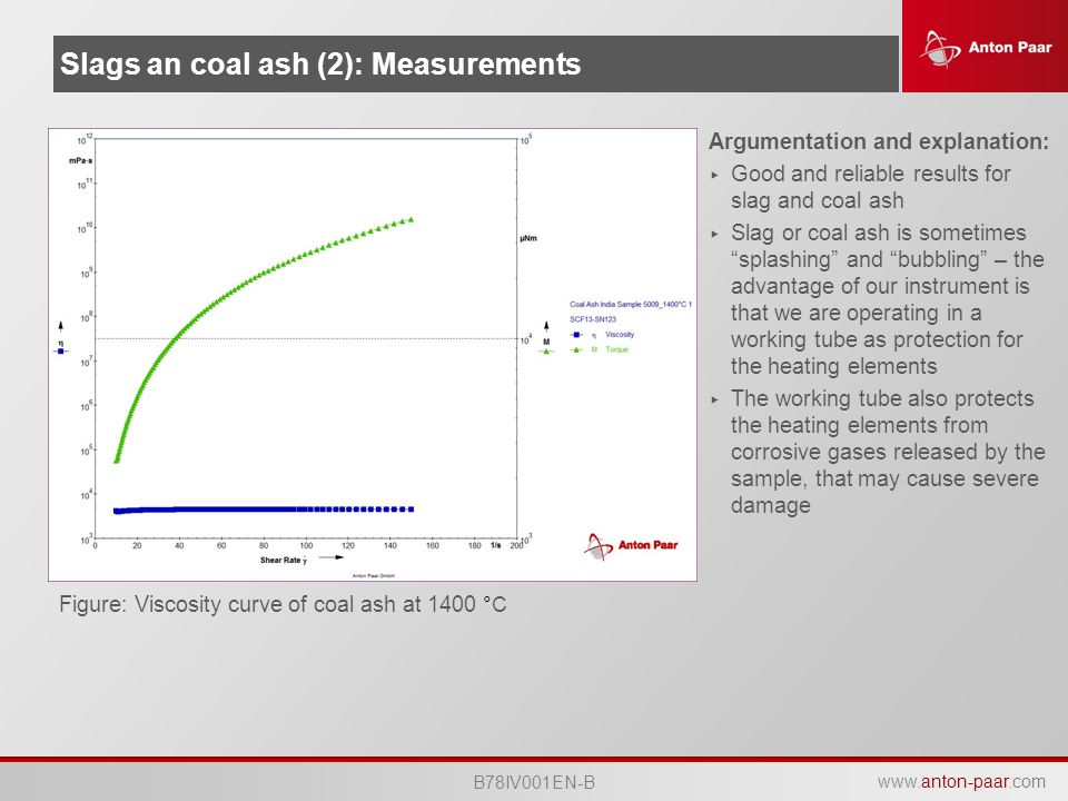 Slags an coal ash (2): Measurements