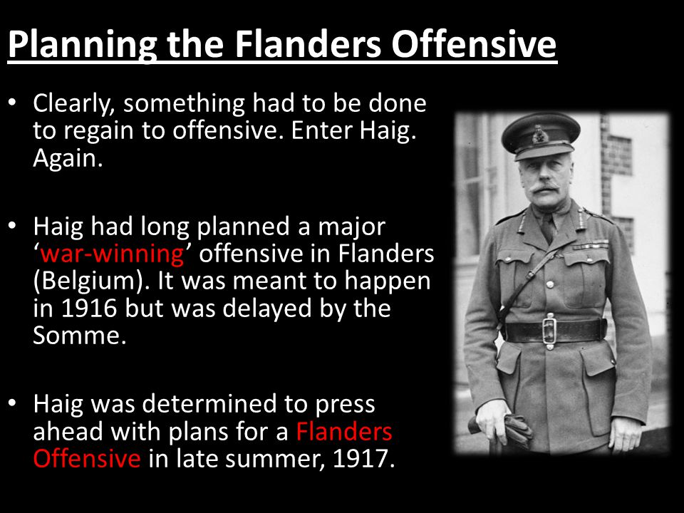 Planning the Flanders Offensive