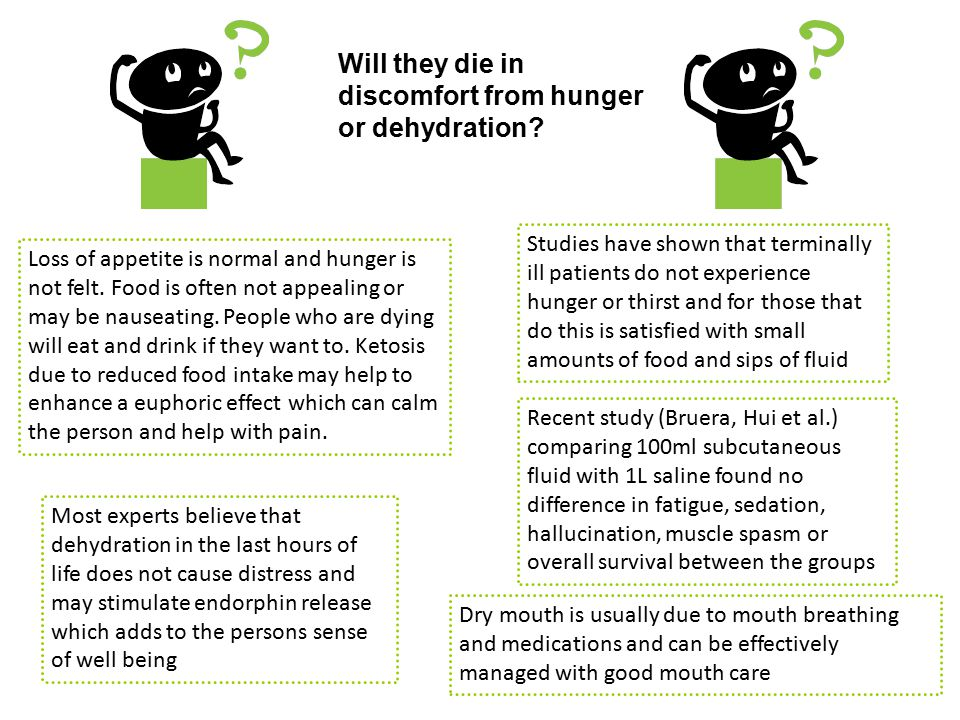 Will they die in discomfort from hunger or dehydration
