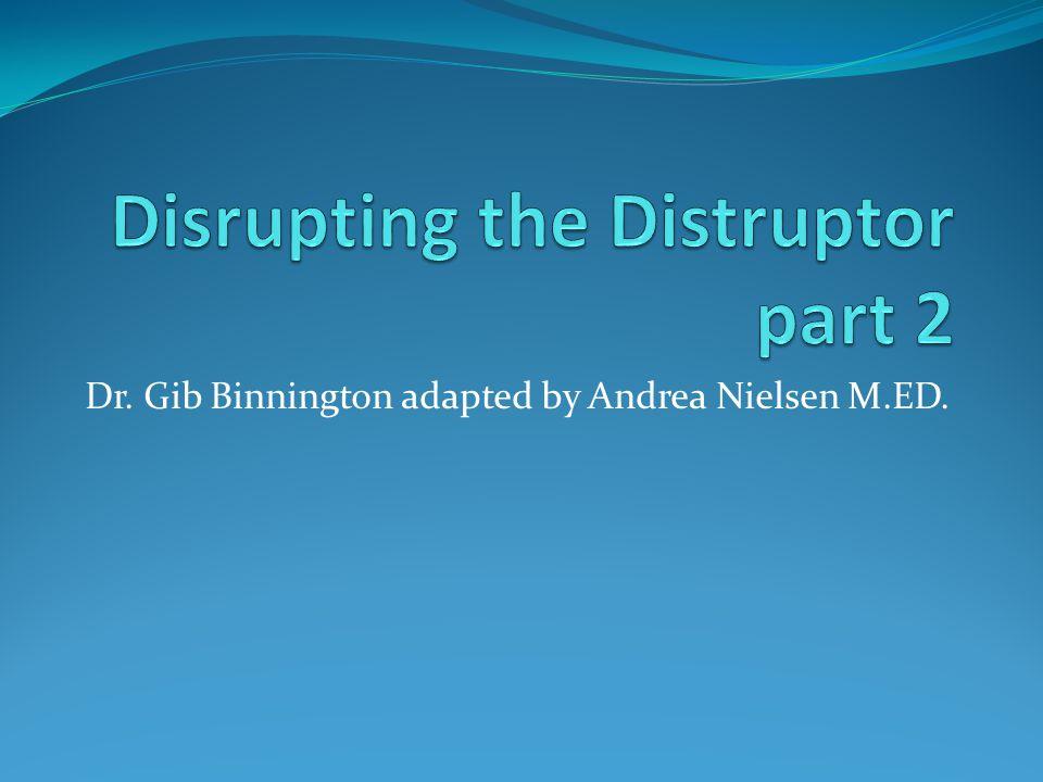 Disrupting the Distruptor part 2