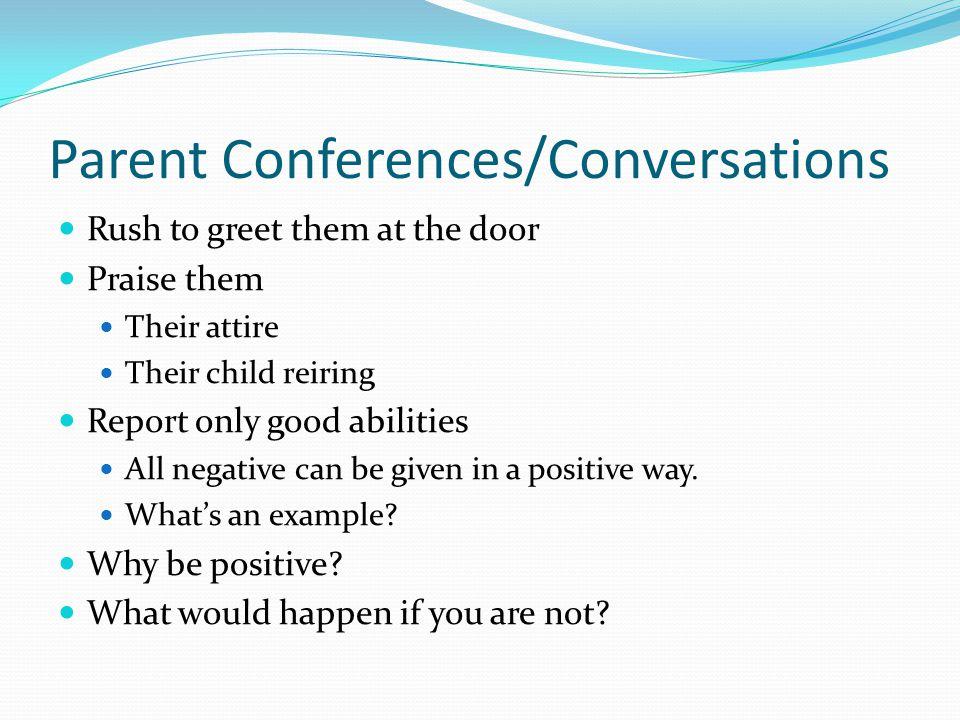 Parent Conferences/Conversations