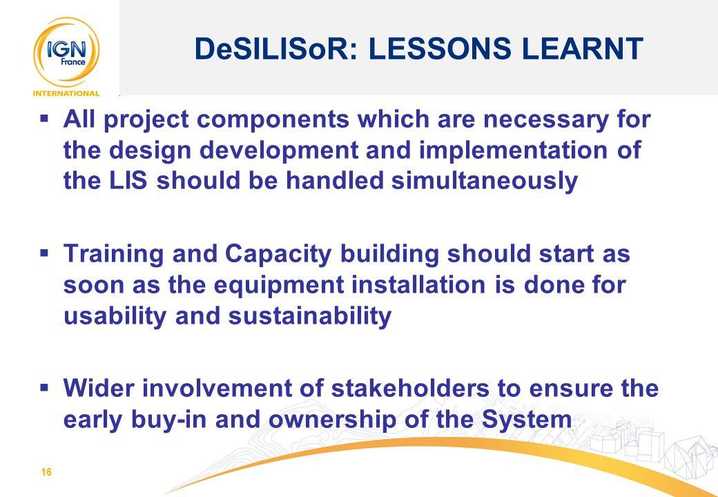 DeSILISoR: LESSONS LEARNT