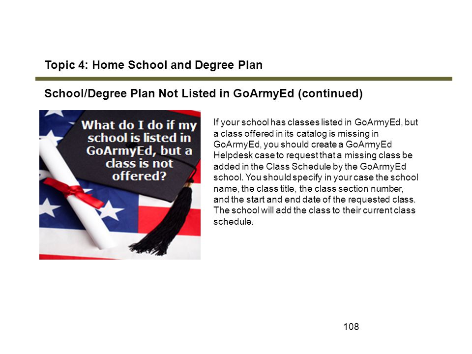Topic 4: Home School and Degree Plan