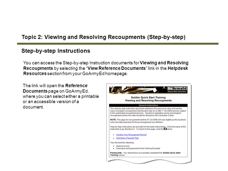Topic 2: Viewing and Resolving Recoupments (Step-by-step)
