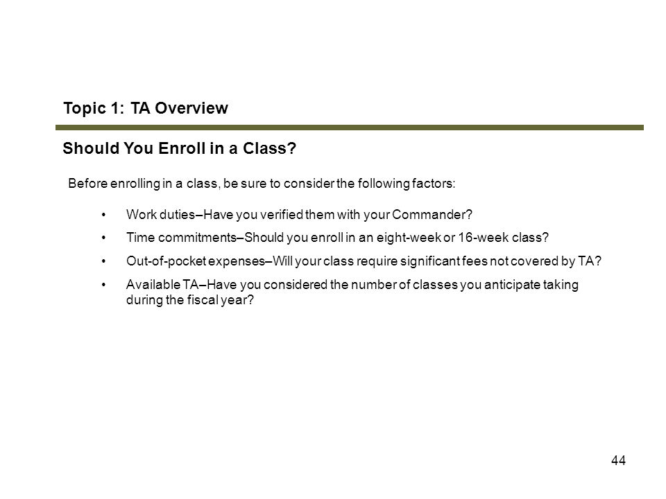 Should You Enroll in a Class