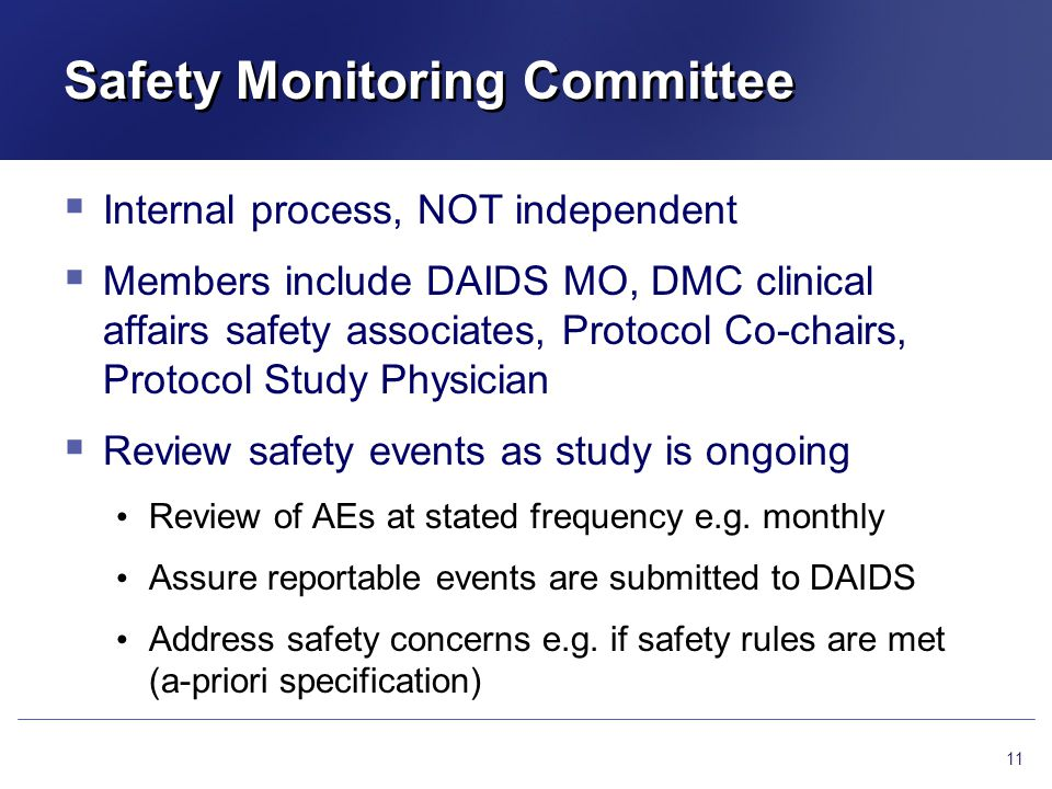 Safety Monitoring Committee