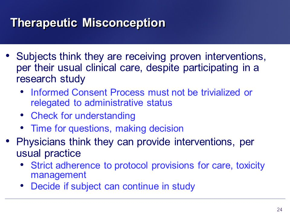 Therapeutic Misconception