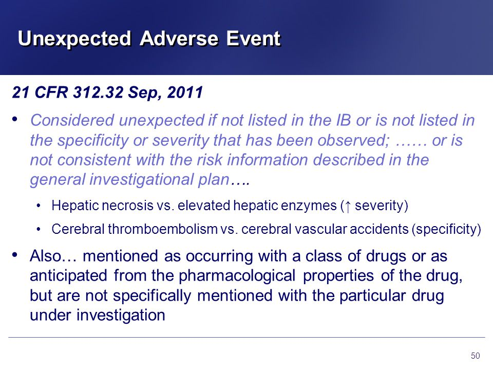 Unexpected Adverse Event