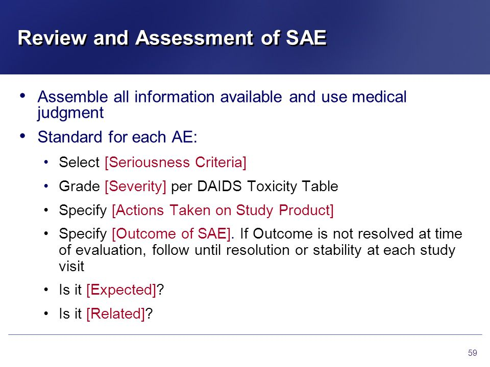 Review and Assessment of SAE