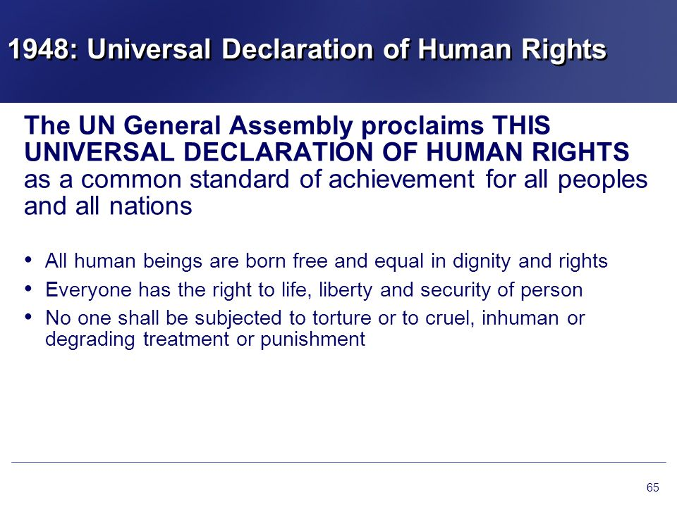 1948: Universal Declaration of Human Rights