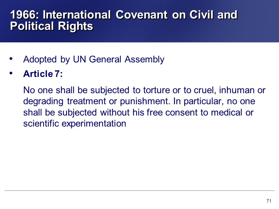 1966: International Covenant on Civil and Political Rights