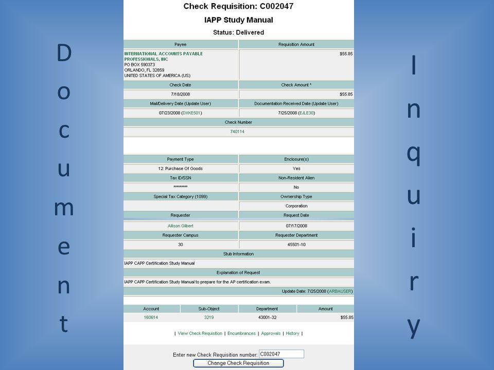 Document Inquiry
