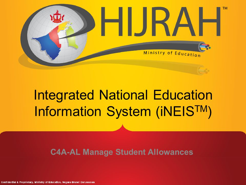 Integrated National Education Information System (iNEISTM)