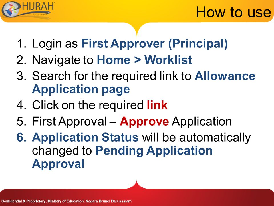 How to use Login as First Approver (Principal)