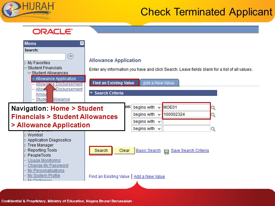 Check Terminated Applicant