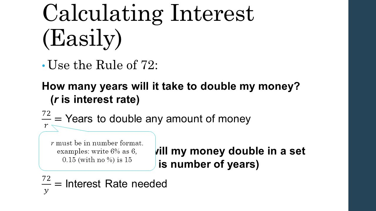 Calculating Interest (Easily)