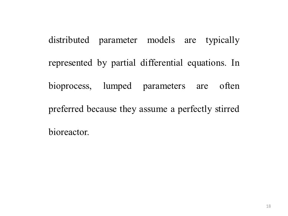 distributed parameter models are typically represented by partial differential equations.