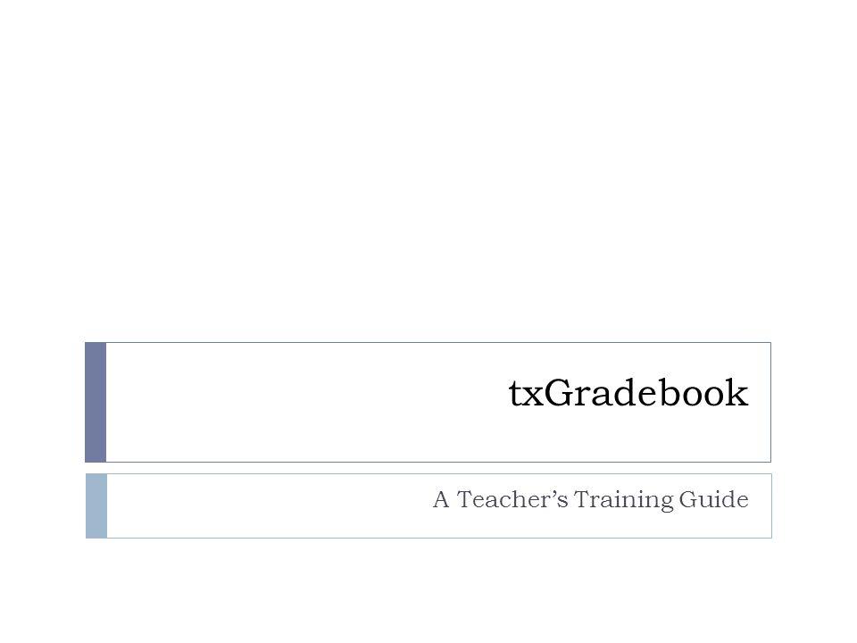 A Teacher's Training Guide
