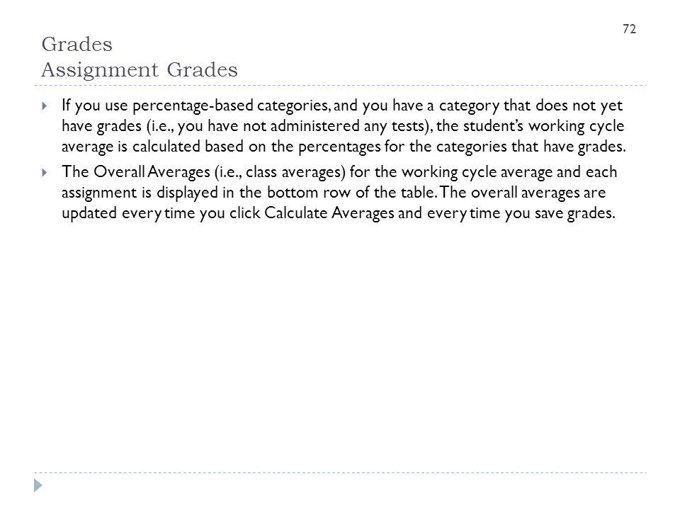 Grades Assignment Grades