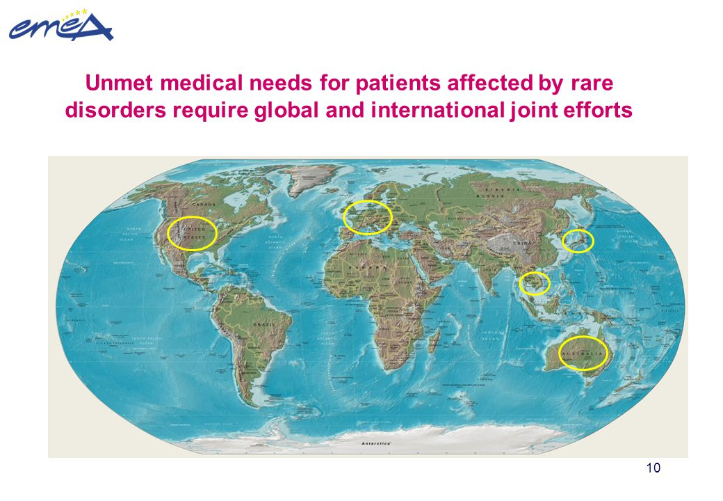 Unmet medical needs for patients affected by rare disorders require global and international joint efforts