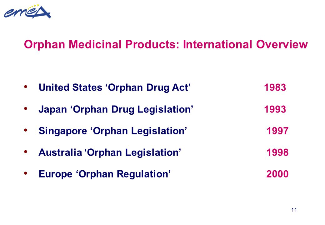 Orphan Medicinal Products: International Overview