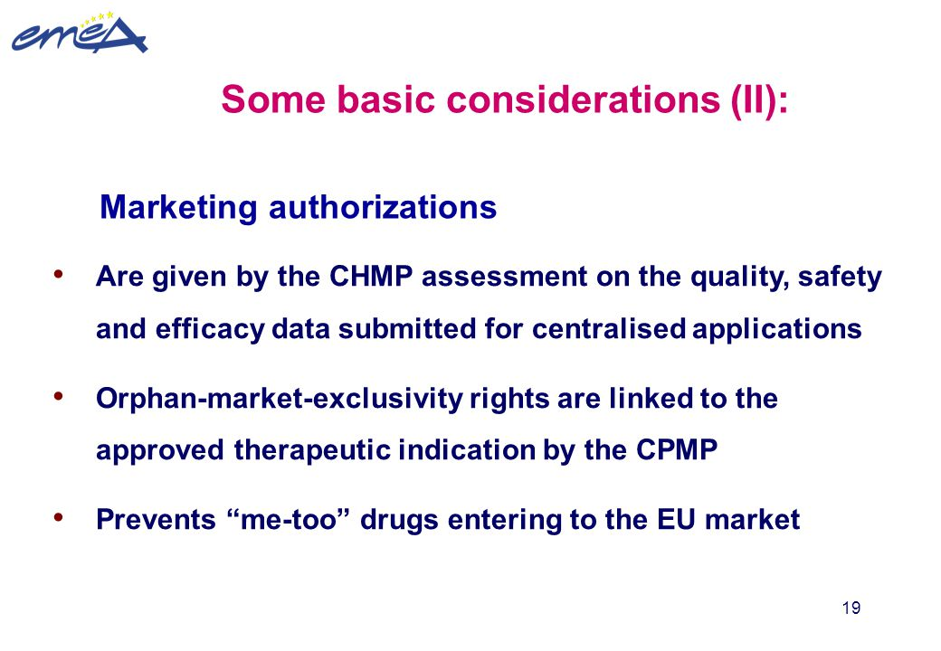 Some basic considerations (II):