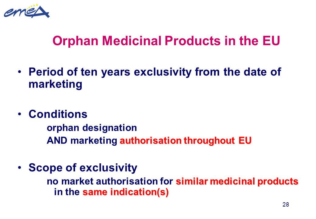 Orphan Medicinal Products in the EU