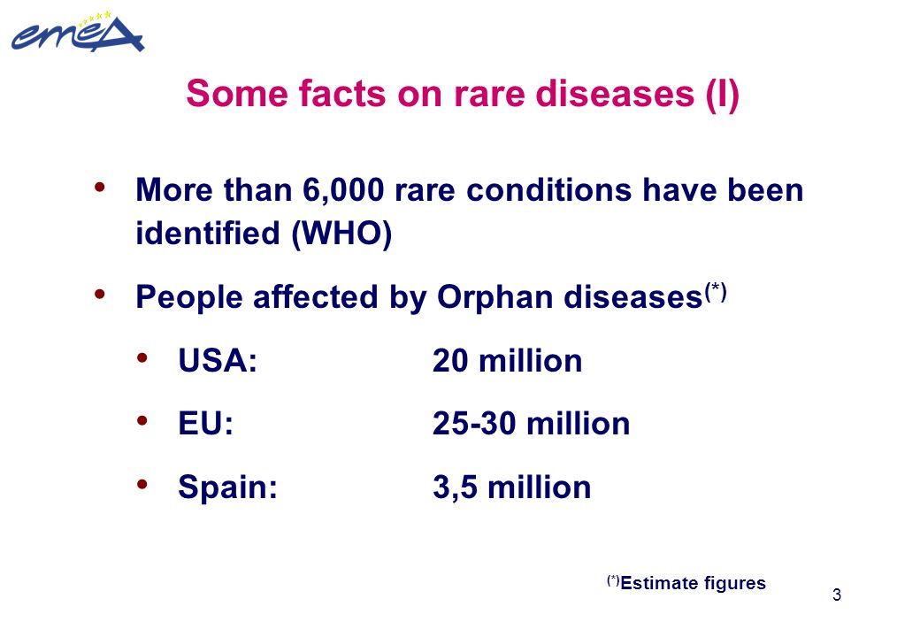 Some facts on rare diseases (I)