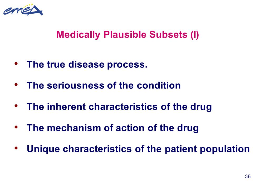 Medically Plausible Subsets (I)