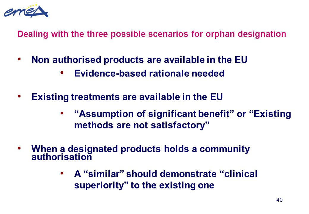 Non authorised products are available in the EU
