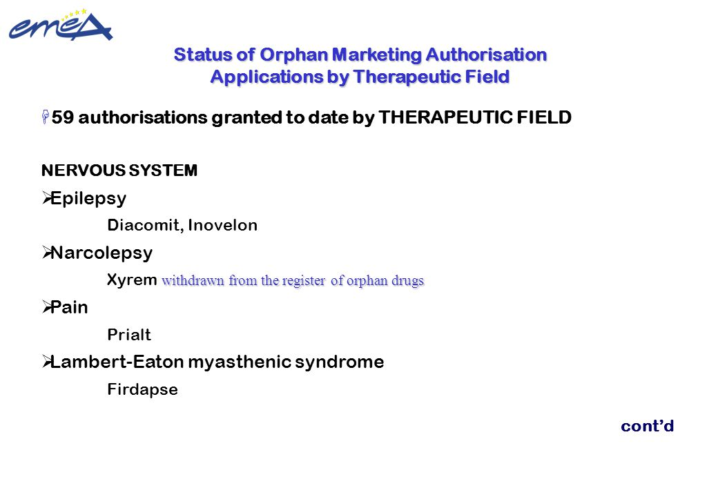 59 authorisations granted to date by THERAPEUTIC FIELD