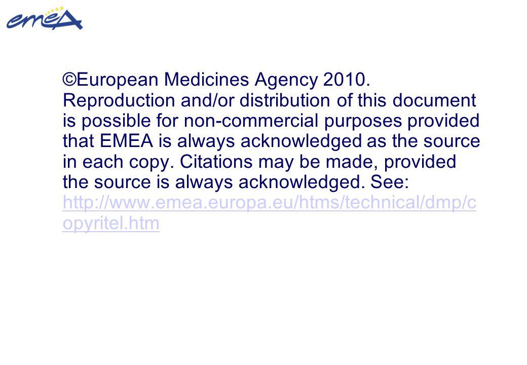 ©European Medicines Agency 2010
