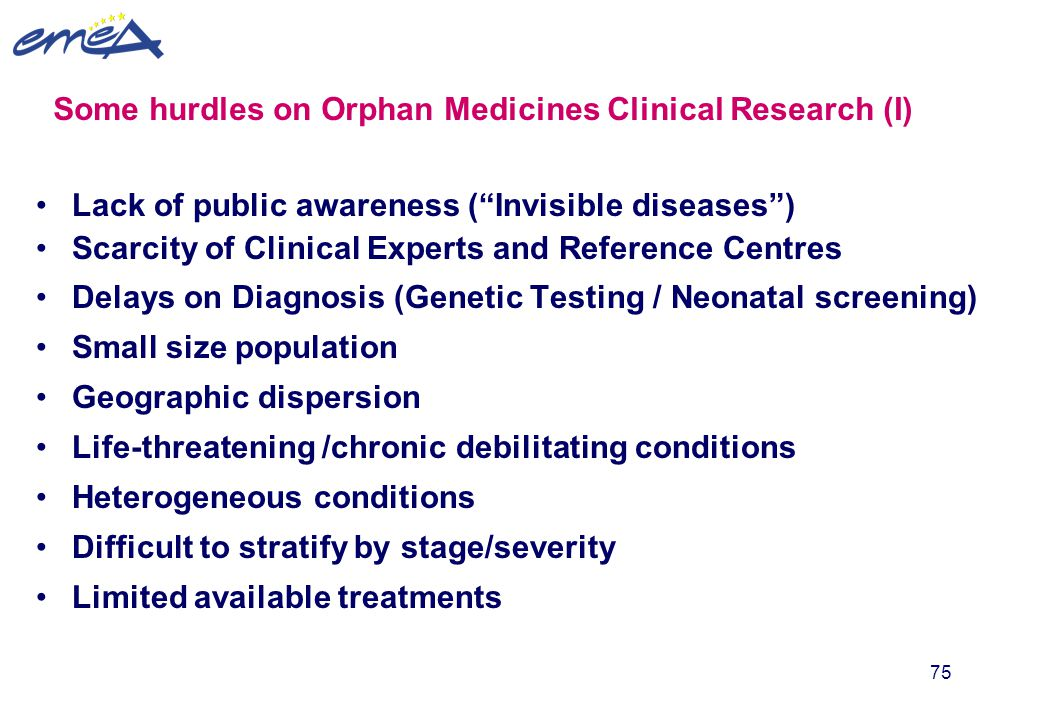 Some hurdles on Orphan Medicines Clinical Research (I)