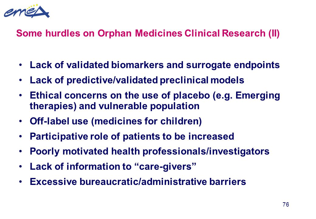 Some hurdles on Orphan Medicines Clinical Research (II)
