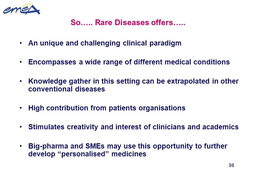 So….. Rare Diseases offers…..