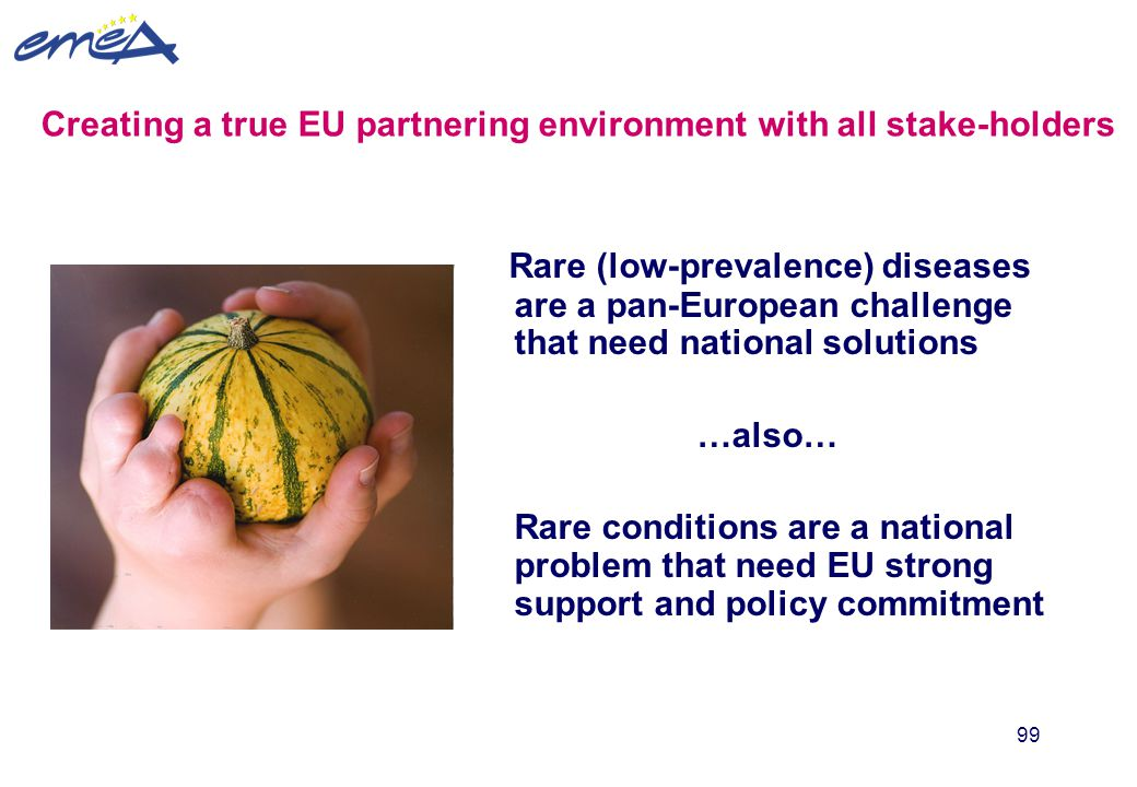 Creating a true EU partnering environment with all stake-holders