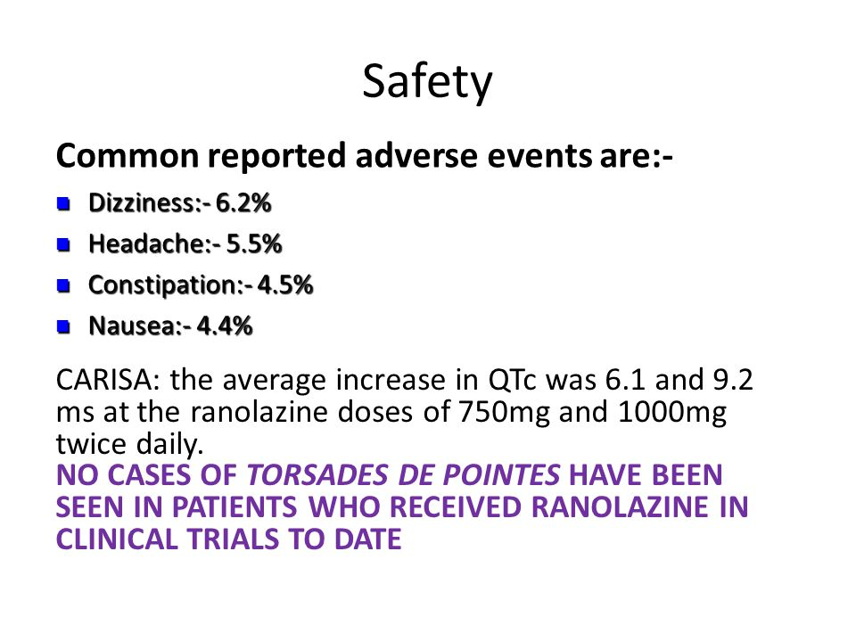 Safety Common reported adverse events are:-