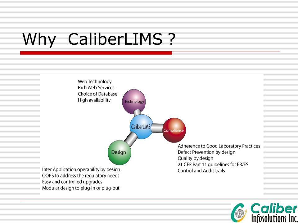 Why CaliberLIMS