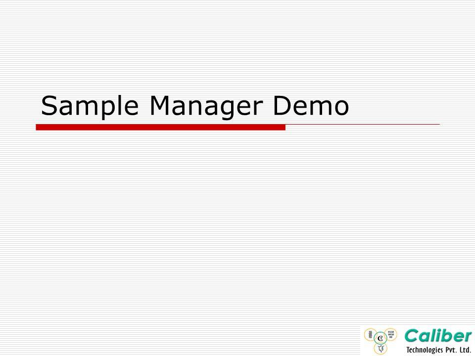 Sample Manager Demo