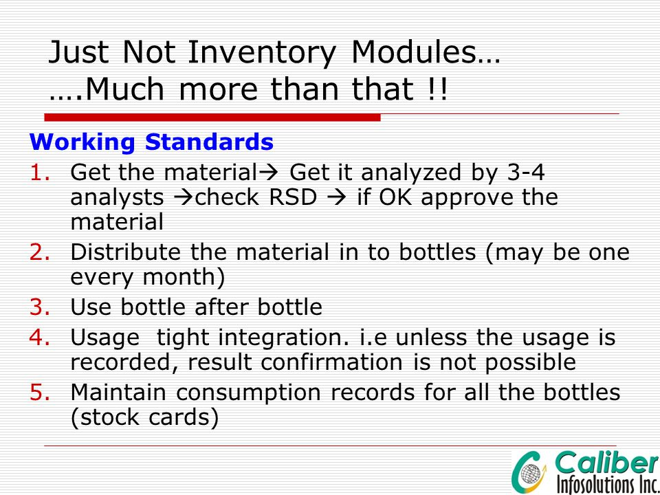 Just Not Inventory Modules… ….Much more than that !!